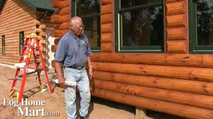 Log Home Staining and Caulking How to LogHomeMart