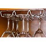 Under Cabinet Stemware Rack Uk by Amazon Com Oenophilia Under Cabinet Wine Rack 6 Bottle Home