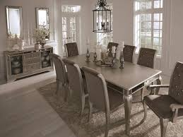 Birlanny Silver 9 Pc Reclining Dining Room Extension Table 6 Upholstered Side Chairs 2 Arm