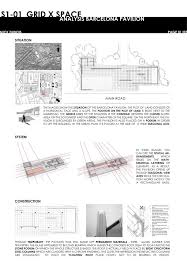 100 Barcelona Pavilion Elevation Commentary The Site Mies Van Der Rohe Selected