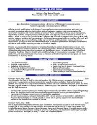 Director Of Communications Resume