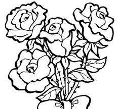 Yellow Rose Coloring Pages