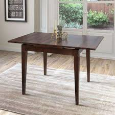 Dillon Cappuccino Stained Wood Extendable Dining Table