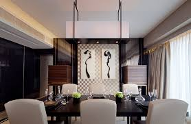 Modern Dining Room With Asian