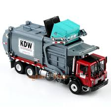1:24 Scale Diecast Material KDW Transporter Garbage Truck Vehicle ...