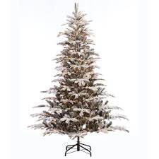 Christmas Tree 75 Pre Lit by The Holiday Aisle Pre Lit Aspen Flocked 7 5 U0027 Green Fir Artificial
