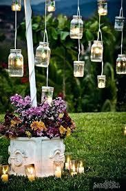 Outside Wedding Decor Stunning Outdoor Decoration Ideas Gallery Vintage Mason Jars