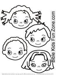 Multicultural Children Coloring Page For The Moses Shepherd Bible Story Grows Up