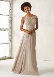chiffon bridesmaid dress with embroidery style 21522 morilee