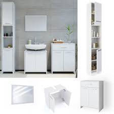 vicco badmöbel set kiko weiß badezimmer badspiegel hochschrank beistellschrank