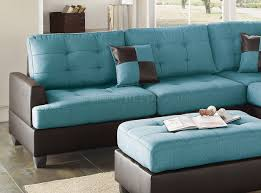 Poundex 3pc Sectional Sofa Set by Sectional Sofa 3pc In Teal Fabric By Boss