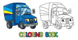 Post Car. Small Funny Postal Truck Or Lorry Coloring Book For ...