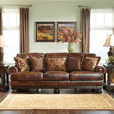 Smith Brothers Sofa 393 by Signature Designs By Ashley U0027hutcherson U0027 Harness Brown Leather