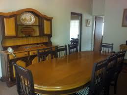 Yellow Wood Dining Room Set