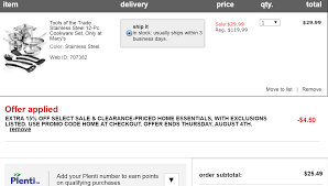 Qpanion: Macy: 12 Pc Stainless Steel Cookware Set $25.49! Macy Promo Code Free Shipping Homewood Suites Special Promotion Exteions A New Feature In Google Adwords Pyrex 22piece Container Set 30 At Macys Free Shipping Yield To Maturity Calculator Coupon Bond Dry Cleaning Coupon Code Save Big With Latest Promo 2013 Amber Paradise Discount Voucher Online Canada Jcpenney Coupons Codes Up 80 Off Nov19 60 Off Martha Stewart Cast Iron The Krazy Daily Update 100 Working 6 Chair Recliner Sofa For 111 200 311 Ymmv Closeout Coach Accsories As Low 1743 Macyscom Kids Recliners Big Lots