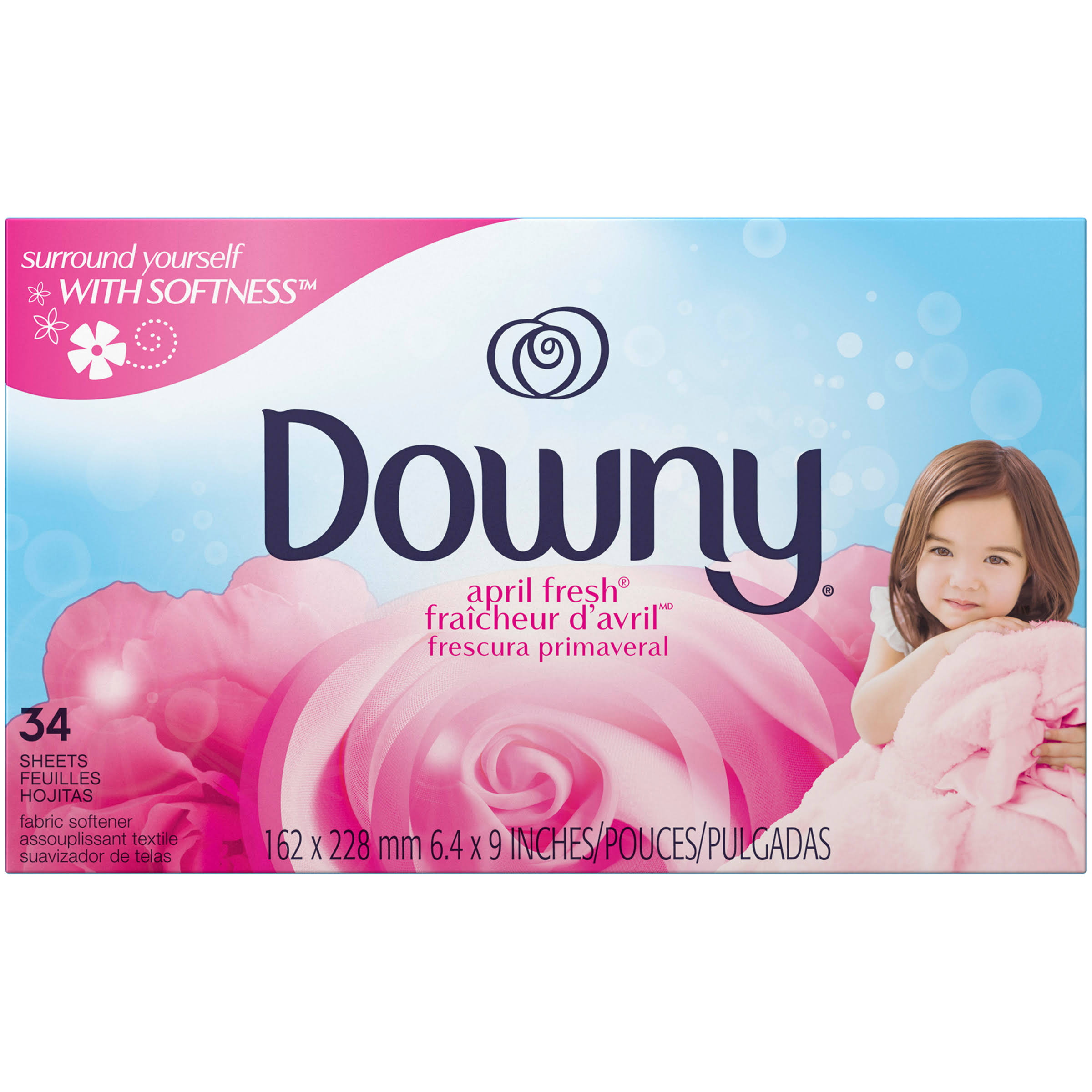 Downy Fabric Softener Dryer Sheets - April Fresh, 34ct
