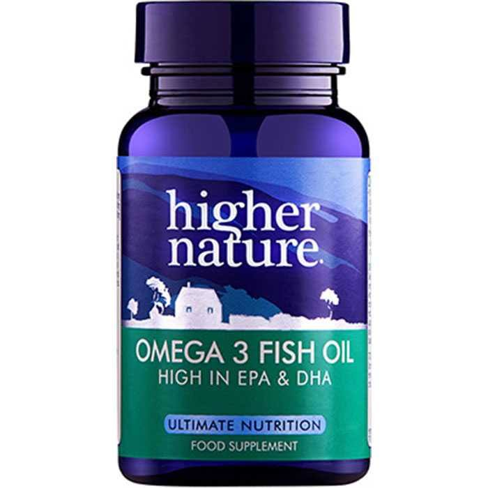 Higher Nature Fish Oil Omega 3 1000mg 90 Capsules