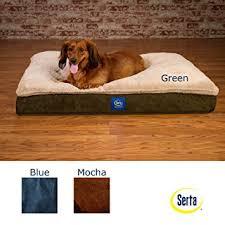 amazon com serta super pillowtop orthopedic pet bed blue
