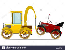 Funny Tow Truck Stock Photo: 73257600 - Alamy