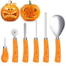 5 Outdoor Halloween Pumpkin Stake Lights Orange LEDs