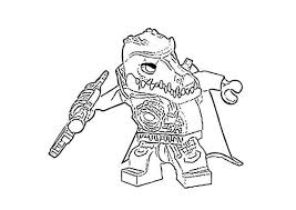 Cragger The Prince Of Crocodile Tribe In Lego Chima Coloring Pages