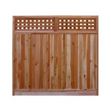 Decorative Garden Fence Home Depot by Wood Fence Panels Wood Fencing The Home Depot