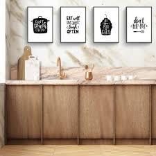 dekoration esszimmer deko poster küche donari 4er küchen