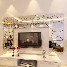 DIY 3D Acrylic Modern Mirror Decal Art Mural Wall Sticker HomeDecor Removable