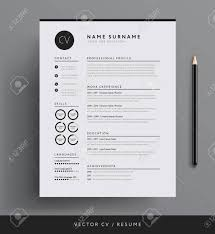Professional Minimalist Resume Template Design. Royalty Free ... 70 Welldesigned Resume Examples For Your Inspiration Piktochart 15 Design Ideas Ipirations Templateshowto Tutorial Professional Cv Template For Word And Pages Creative Etsy Best Selling Office Templates Cover Letter Application Advice 2019 Modern Femine By On Dribbble Editable Curriculum Vitae Layout Awesome Blue In Microsoft Silent How To Design Your Own Resume Ux Collective