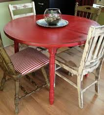 Retro Kitchen Table And Chairs Edmonton by Distressed Round Country Kitchen Table Vintage Hip Décor