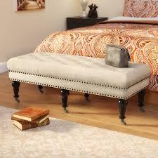 Charlton Home Harting Upholstered Bench & Reviews