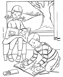Easter Kids Fun Coloring Page