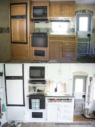 Travel Trailer Remodel Before And After Kitchen In Camper Renovation
