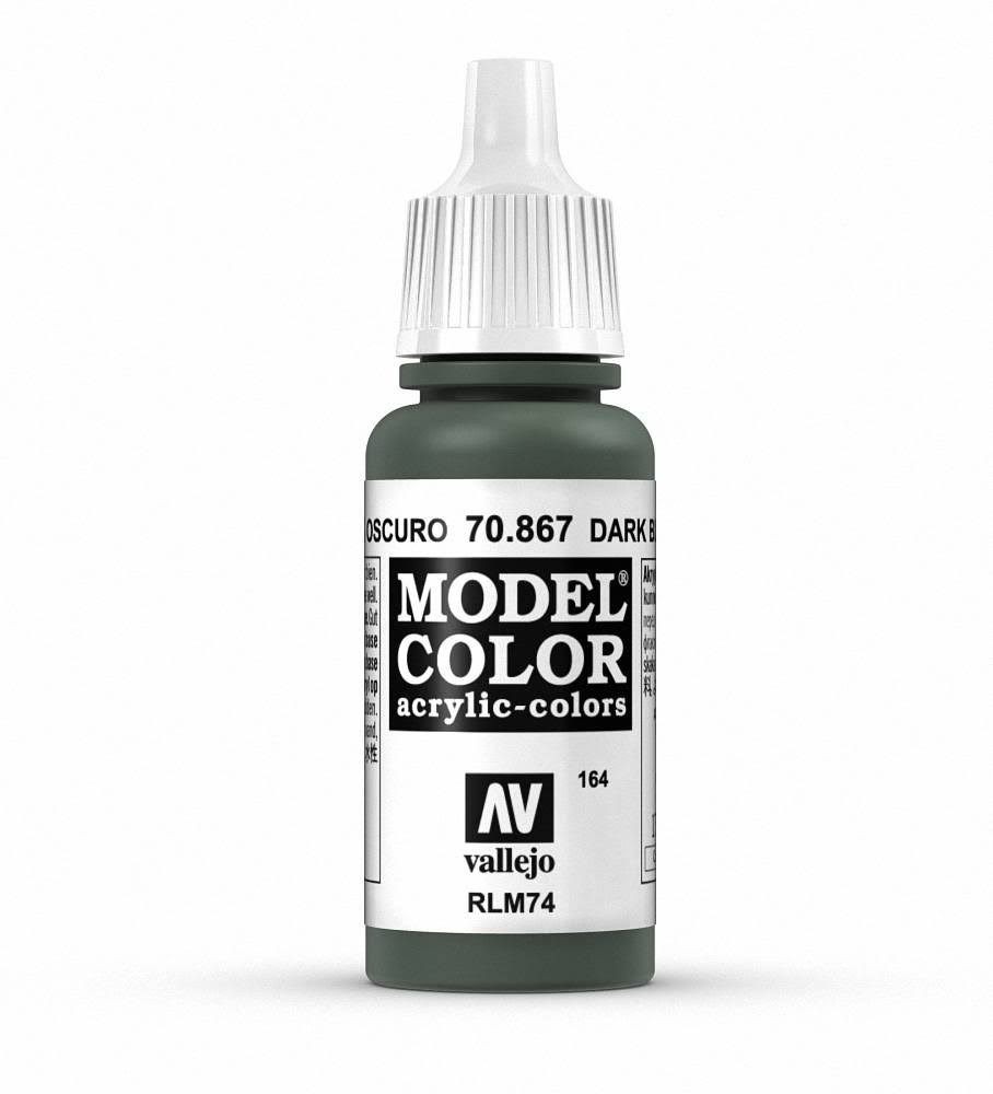 Vallejo Model Color Acrylic Paint - Dark Blue Grey, 17ml