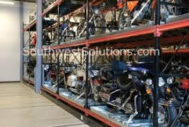Motorized Compact Harley Davidson Motorcycle Pallet Rack Storage Systems