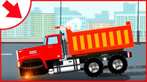 100 Red Dump Truck Car Cartoons For Children The Animations For Kids