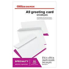 fice Depot Brand Greeting Card Envelopes 5 34 x 8 34 White Box
