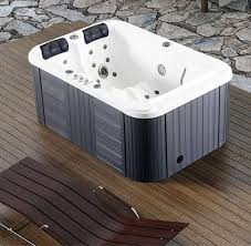 Jetted Bathtubs For Two by Mini 2 3 Person Indoor Spa Tub With Two Long Lounges View 2