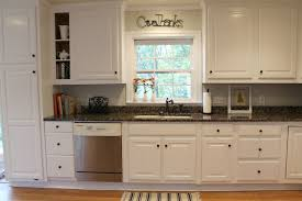 Kitchen 1950s Cabinets White Wooden Granite Counter Top Mat