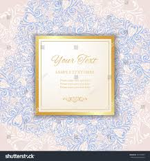 Vintage Figure Frame With Golden Borders Laser Cutting Element Royal Ornate Background Paper