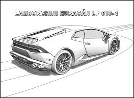 Lamborghini Huracan Coloring Pages Side View