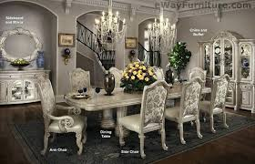 High End Dining Room Set Black And Silver