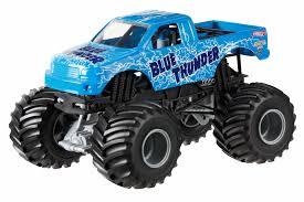 100 Blue Monster Truck Hot Wheels Jam Thunder DieCast Vehicle 124 Scale