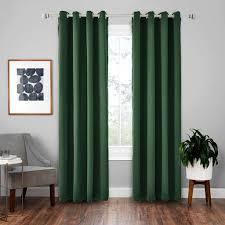vorhänge 2er 245x140cm hxb dunkelgrün blickdicht thermo für wohnzimmer schlafzimmer kinderzimmer