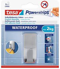 tesa powerstrips waterproof haken zoom metall wasserfester klebehaken aus edelstahl für badezimmer und dusche