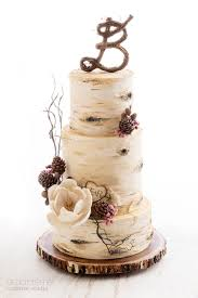 Birch Tree Wedding Cake De La Creme Creative Studio