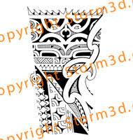 Marquesan Forearm Tribal Tattoo Maori Koru