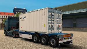 4 Trailer Container 20 Ft Skins Real V1 - Modhub.us