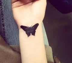 Gothic Butterfly Tattoo On Wrist