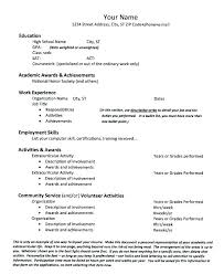 Sample High School Resume Templates In Word Student Template For College Application Example